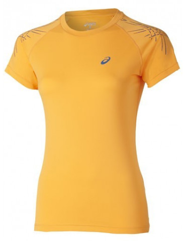 CAMISETA MANGA CORTA ASICS RUNNING STRIPE TOP SS WOMAN