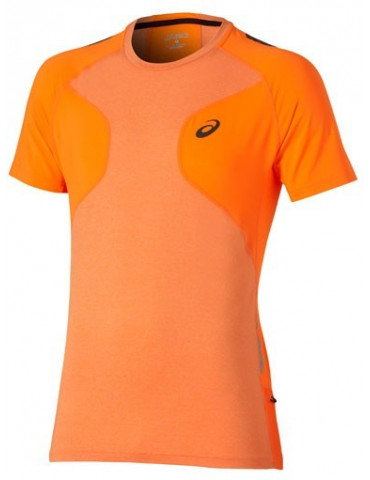 CAMISETA MANGA CORTA ASICS RUNNING FUJITRAIL ULTRA SHOCKING ORANGE