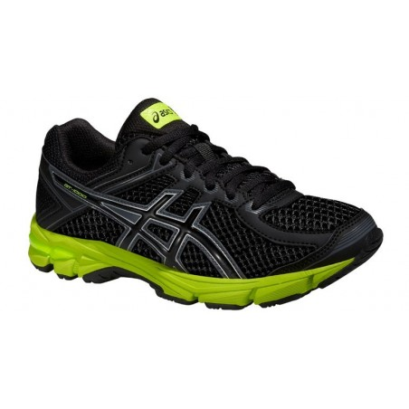 ZAPATILLAS RUNNING ASICS GEL GT-1000 4 GS NEGRO-AMARILLO
