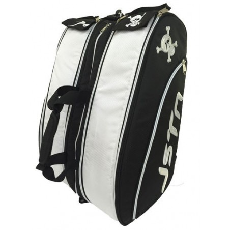 PALETERO PADEL JUST TEN NEGRO BLANCO