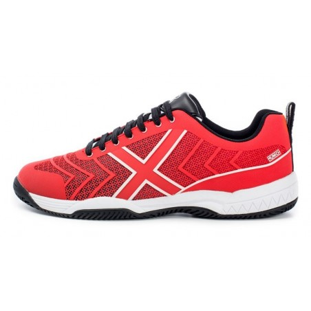 ZAPATILLAS PADEL MUNICH SMASH ROJO-BLANCO