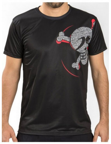 CAMISETA JUST TEN MANGA CORTA TECNICA KERRING NEGRO-ROJO
