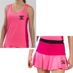 CONJUNTO PADEL JUST TEN CAMISETA SKID FALDA TRIKOLORE